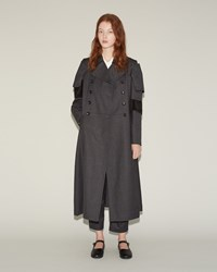 Comme Des Garcons Wool Velveteen Coat Grey Black