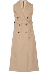 Tome Sleeveless Cotton Blend Twill Trench Coat