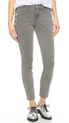 J Brand Zion Mid Rise Skinny Jeans Distressed Silver Fox