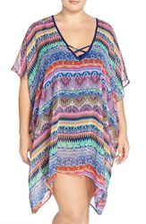 Plus Size Women's Jessica Simpson 'Bali Breeze' Swim Cover Up