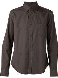 Band Of Outsiders Embroidered Monogram Shirt Green