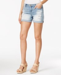 Calvin Klein Jeans Ripped Faded Perfect Pale Wash Shorts
