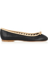 M Missoni Leather Ballet Flats Black