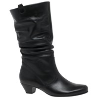 Gabor Rachel Wide Slouch Knee High Boots Black
