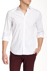 Kent And Curwen Tailored Fit Poplin Shirt White