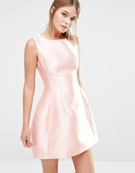 New Look Satin Structured Prom Dress Nude Stone