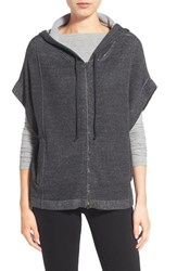 Women's Eileen Fisher Drop Shoulder Organic Cotton Knit Zip Front Hoodie
