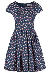 Louche Ineesha Summer Dress Navy Dark Blue