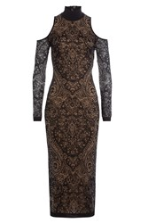 Balmain Dress With Lace Overlay Black