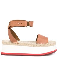 Stella Mccartney Flatform Sandals Brown