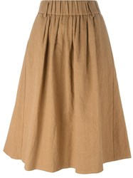 Forte Forte A Line Midi Skirt Nude And Neutrals