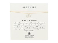 Dogeared Bee Sweet Honeycomb Make A Wish Thread Necklace Sterling Silver Gold Necklace White