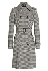 Ralph Lauren Black Label Printed Wool Trench Coat Multicolor
