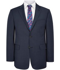 Austin Reed Regular Fit Navy Sharkskin Jacket