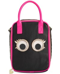 Betsey Johnson Googly Eyes Lunch Tote Black