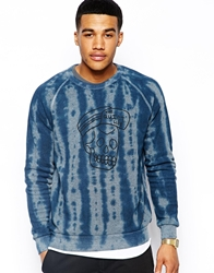 The Quiet Life Sweatshirt With Skull Cap Tie Dye Blue