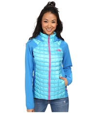 The North Face Thermoball Hybrid Hoodie Fortuna Blue Clear Lake Blue Women's Coat