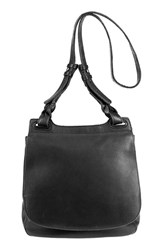 Will Leather Goods 'Cirrus' Leather Shoulder Crossbody Saddle Bag Black
