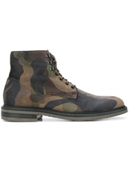 Hydrogen Camouflage Print Boots Green