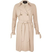 River Island Womens Blush Pink Duster Trench Coat