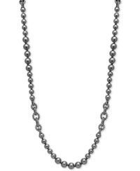 Anne Klein Hematite Plated Imitation Pearl Strand Necklace Gray