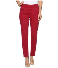 Jag Jeans Amelia Ankle In Bay Twill Winter Berry Women's Casual Pants Red