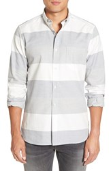 French Connection Men's 'Enderbite' Trim Fit Stripe Sport Shirt