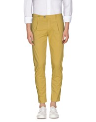 Camouflage Ar And J. Trousers Casual Trousers Men Yellow
