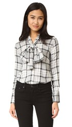 Ruken Sophie Plaid Blouse Grey Plaid
