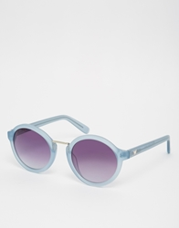 Whistles Daria Round Sunglasses Frostedblue
