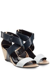 Pierre Hardy Leather Wedges Multicolor