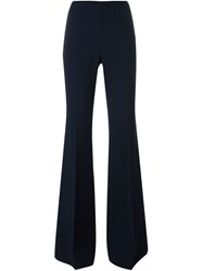 Michael Kors Flared Tailored Trousers Blue