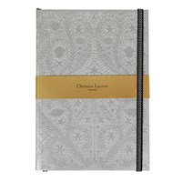 Christian Lacroix Paseo Embossed Notebook Silver B5