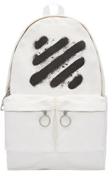 Off White Diagonal Spray Backpack