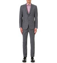 Richard James Regular Fit Wool Crepe Suit Grey