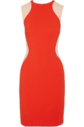 Stella Mccartney Stretch Crepe Dress Red
