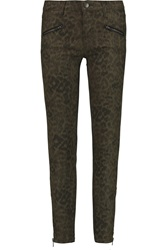 Current Elliott The Soho Snake Print Coated Low Rise Skinny Jeans