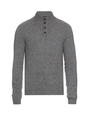 Ermenegildo Zegna High Neck Wool Sweater Grey