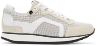 Pierre Hardy White Mesh Sneakers