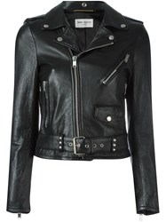 Saint Laurent Signature Motorcycle Jacket Black