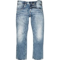 River Island Mens Light Blue Wash Boxy Jeans