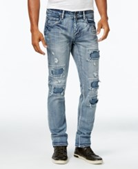 Inc International Concepts Men's Light Wash Ripped Skinny Jeans Only At Macy's