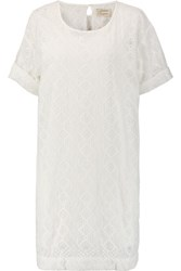 Current Elliott The Eyelet Broderie Anglaise Cotton Mini Dress Ivory