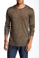 John Varvatos Linen Crew Neck Sweater Green