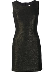 Loyd Ford Metallic Effect Dress Black