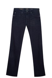 7 For All Mankind Straight Luxe Jeans Navy