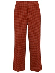 Whistles Dogtooth Wide Cropped Trousers Multi