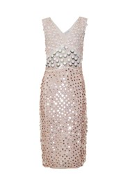 Altuzarra Genevieve Sequin Embellished Midi Dress Light Pink
