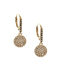 Judith Jack Crystal Marcasite And Goldplated Sterling Silver Disc Drop Earrings