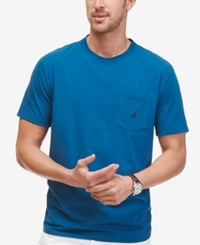 Nautica Men's Logo Pocket T Shirt Pitch Blue